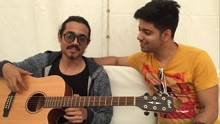 Bhuvan Bam (BB KI Vines) & Siddharth Slathia Jamming at YouTube Fanfest Backstage
