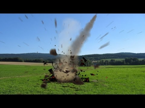 asteroid impact effect with sound - green screen thumbnail