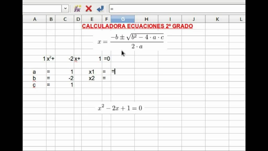 Calculadora ecuaciones segundo grado - YouTube