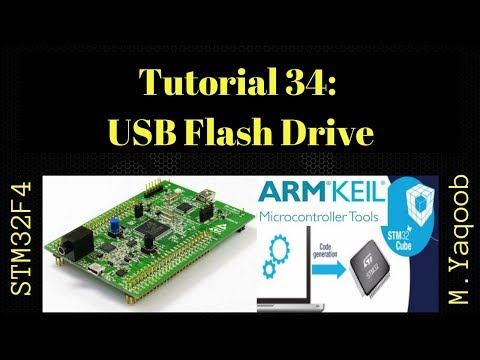 STM32F4 Discovery board - Keil 5 IDE with CubeMX: Tutorial 34 - USB MSC  Flash Drive