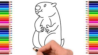 Groundhog Drawing | How To Draw Groundhog