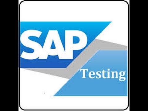 sap testing training video sap testing online training course