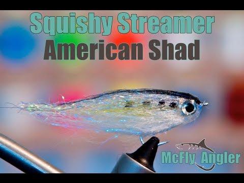 Fat Head Squishy Streamer - American Shad - Fly Tying Video