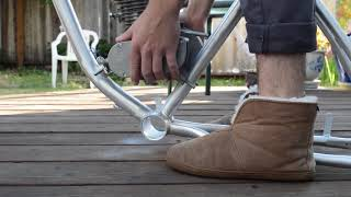Motorized Bike Build Pt. 1: Painting wheels and Mounting Engine