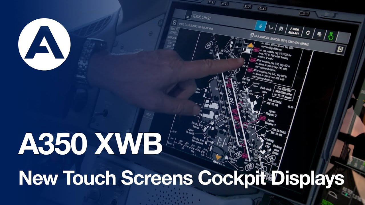 Download #A350 XWB - New Touch Screens Cockpit Displays