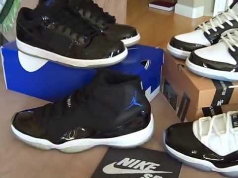 buy online 6a371 38846 Nike SB Dunk Low Pro - Space Jam + Concord + 11 comparison - YouTube