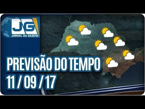 Previsão do Tempo - 11/09/2017