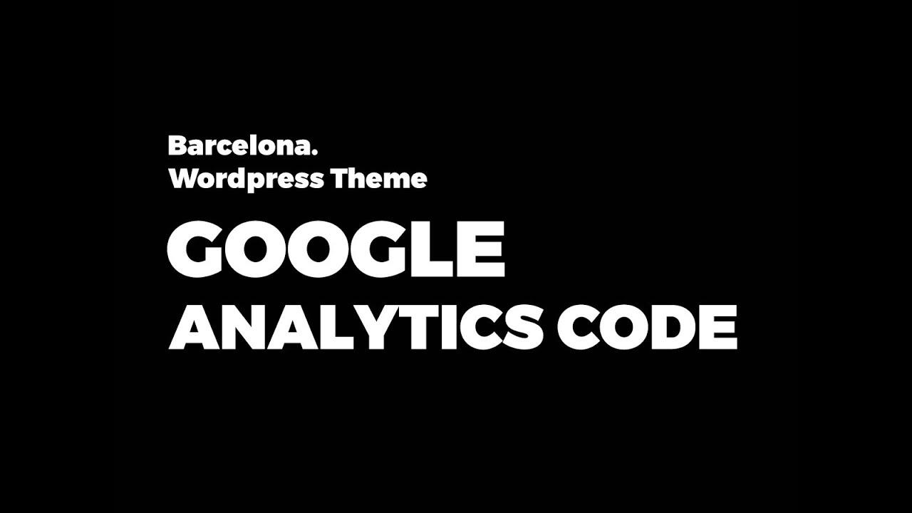 adding google analytics to thesis theme