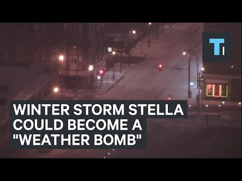"Winter Storm Stella could become a ""weather bomb"""