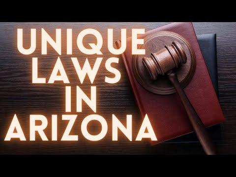 Unique Laws In Arizona!