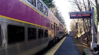 MBTA Commuter Rail Departing Windsor Gardens