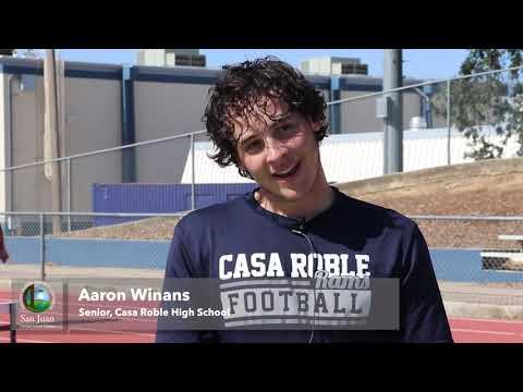 Casa Roble Fundamental High School football team practices social distancing