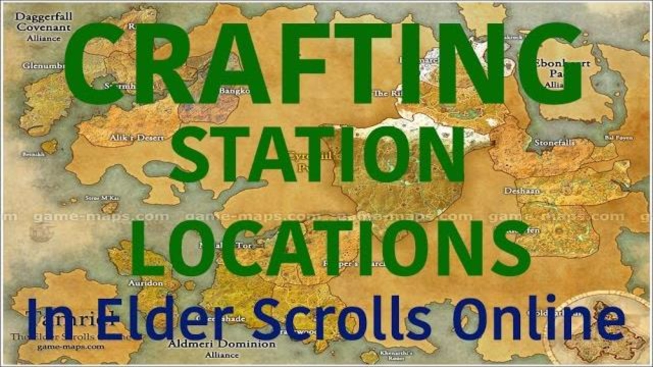 Elder Scrolls Online Crafting Station Locations Auridon Youtube