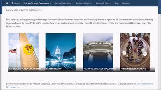 Homeland Security Digital Library (HSDL): Getting Started