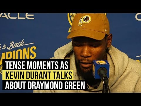 Warriors Kevin Durant has terse answers to Draymond Green situation