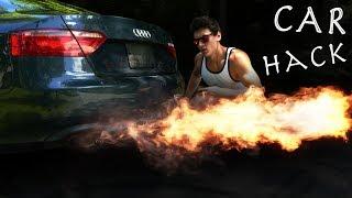 How To Make a CAR FLAMETHROWER! - 10 Foot Flames, Super Simple Build!!! (Batmobile Hack)