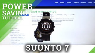 How to Activate Power Saving Mode in SUUNTO 7 – Battery Saver screenshot 2