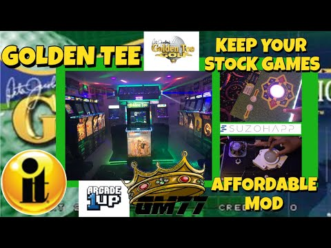 ARCADE1UP GOLDEN TEE WITH LED TRACKBALL MOD from GameMom77