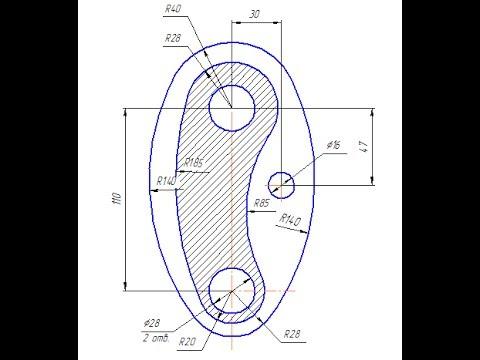 Видеоуроки по КОМПАС 3D. Урок 3  Как изобразить штриховку на чертеже
