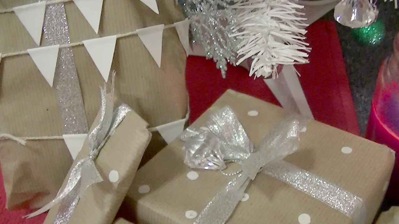 christmas wrapping ideas with brown paper youtube