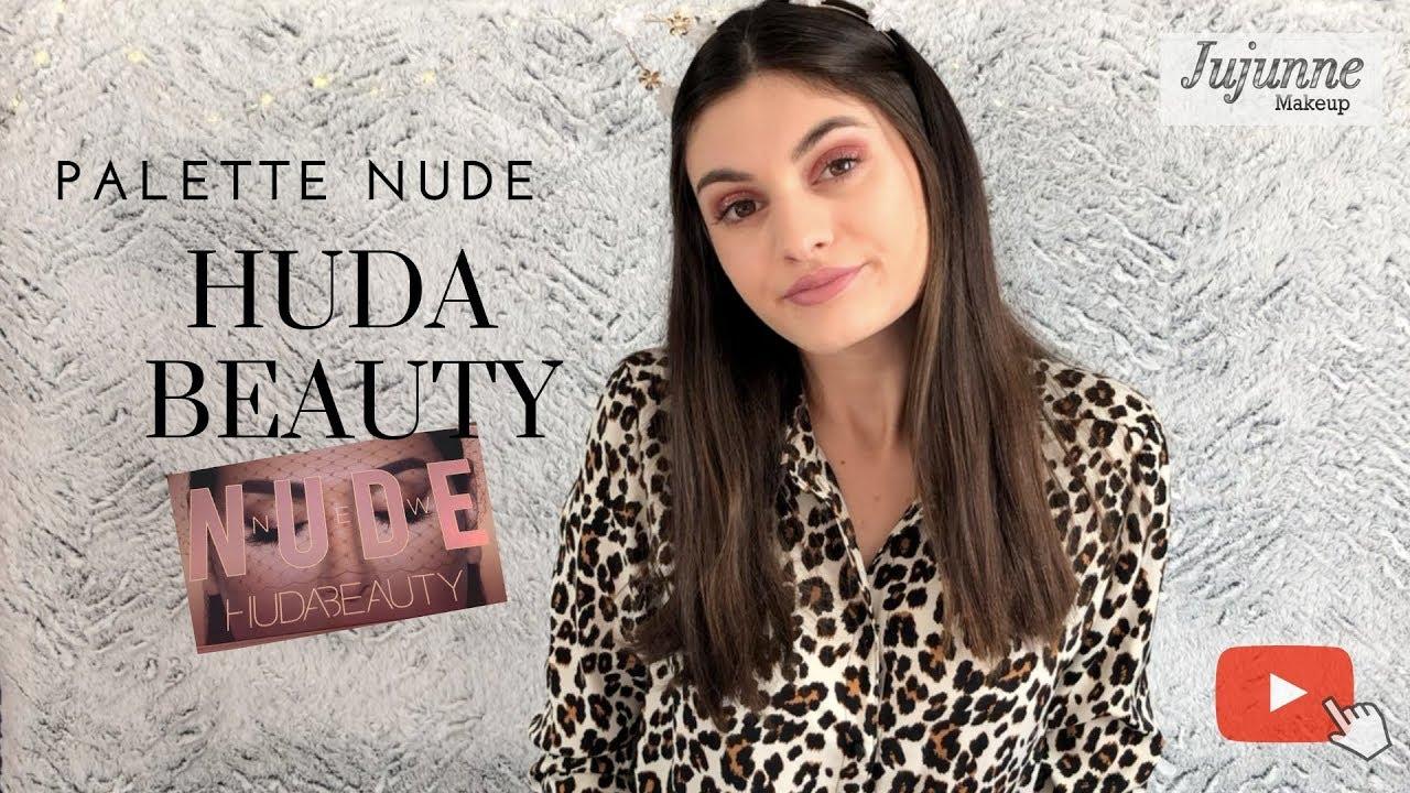 Je teste la palette Nude dHuda beauty - YouTube