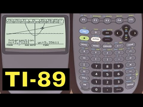 TI-89 Calculator - 31 - Finding Intersection Points With The TI-89 Calculator