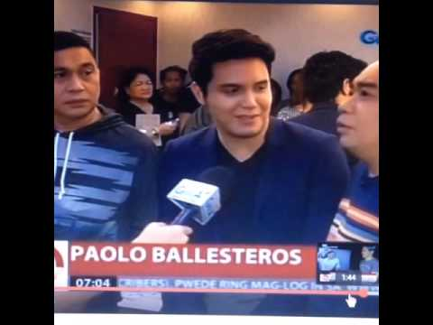 24 Oras JoWaPao Interview 29 Oct. 2015 #PaoMeng Paolo Ballesteros talks about Maine Mendoza