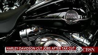 Harley-Davidson cuts jobs, repurchases shares after tax cut