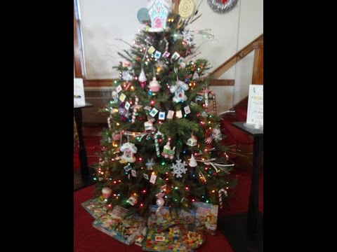Candy Land & Musical Notes Decorated Christmas Trees