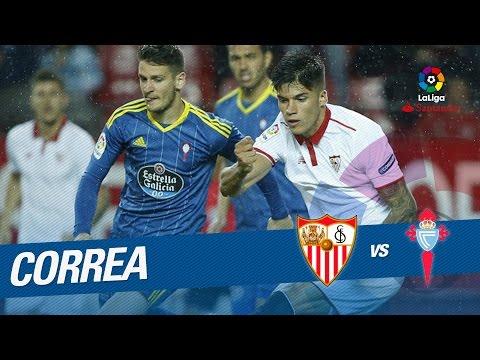 Golazo de Correa (1-0) Sevilla FC vs Celta de Vigo