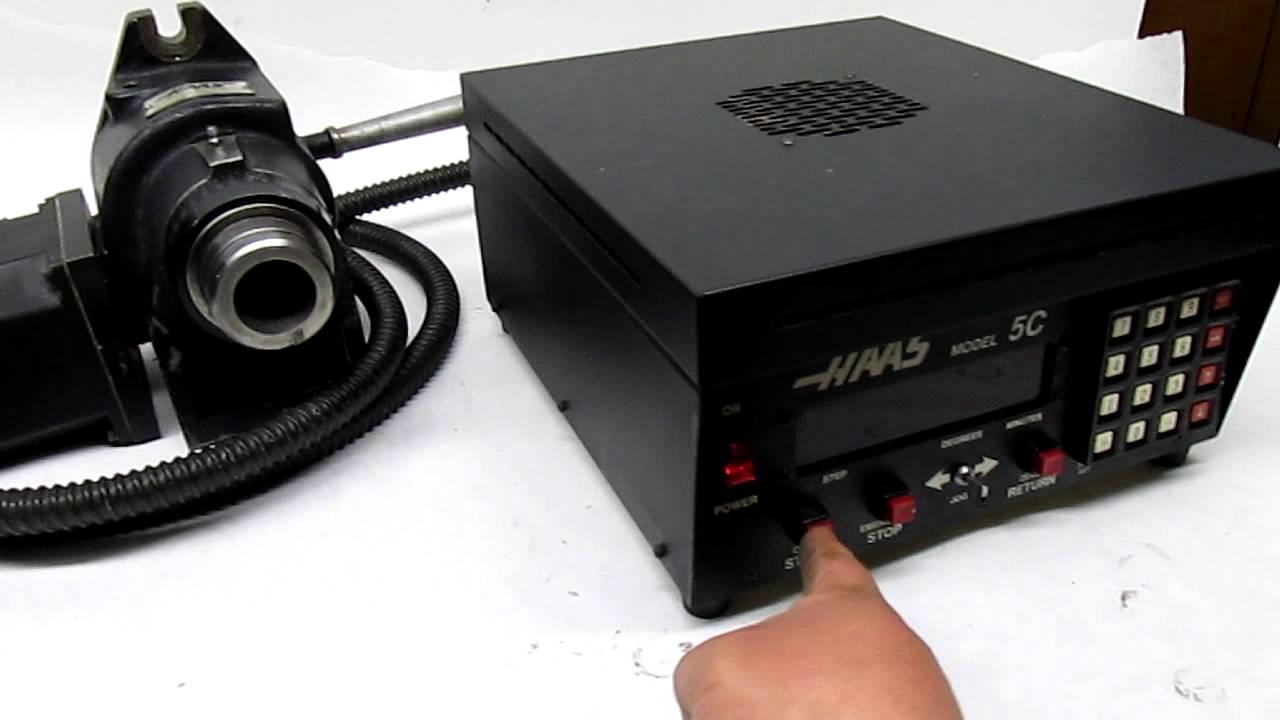 Haas 5c Horizontal Vertical Servo Indexing Head Control Youtube Encoder Wiring Diagram