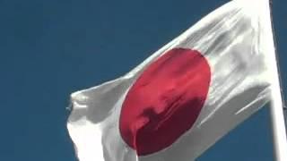 出雲大社に掲揚されている威風堂々・大日章旗・日の丸(面積75畳、重さ49kg、高さ47m)