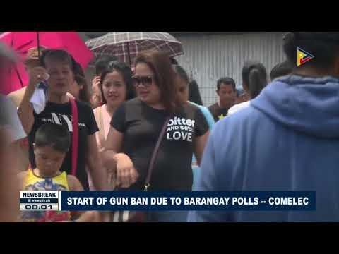 NEWS BREAK: Start of gun ban due to Barangay polls - COMELEC