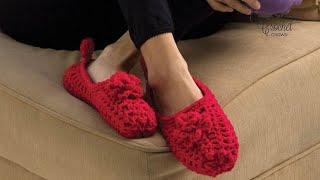 Crochet Slippers For Beginners Pattern