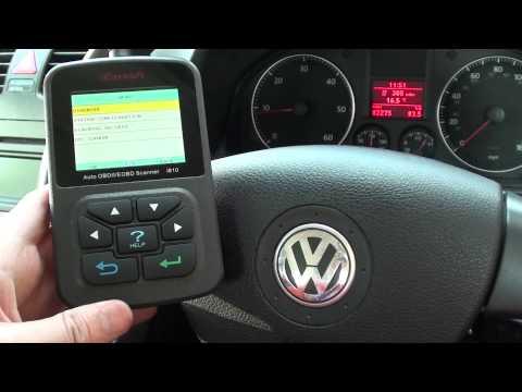 i810 iCarsoft Erasing VW Engine Warning Light & Trouble COdes For MAF & MAP