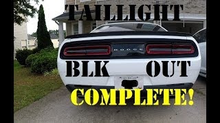 Challenger RT Taillight Blackout!!!!
