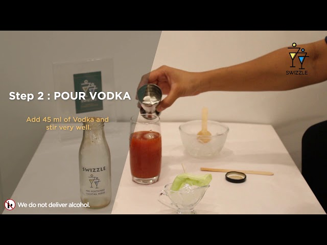 Bloody Mary in 3 easy steps using Swizzle Cocktail Kit   Swizzle   Vodka cocktail