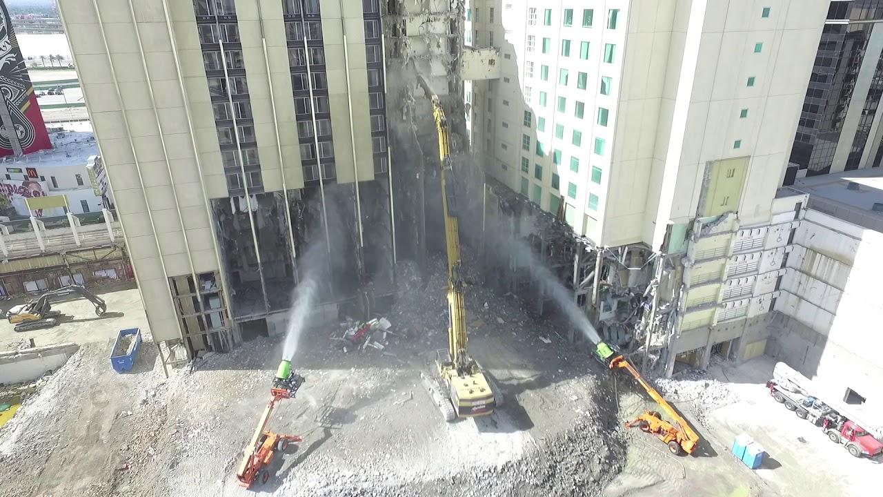 Las Vegas Club Demolition Update Sep 19 2017 Youtube