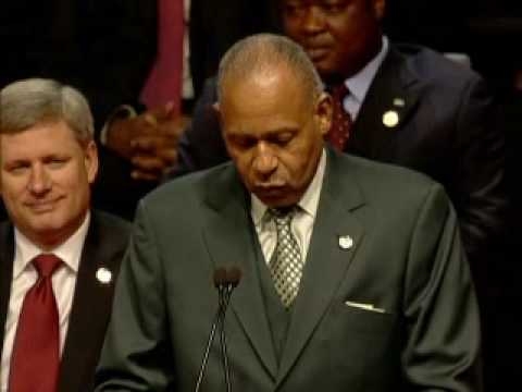 Remarks By The Hon Patrick Manning - Prime Minister of Trinidad & Tobago Part 1.wmv
