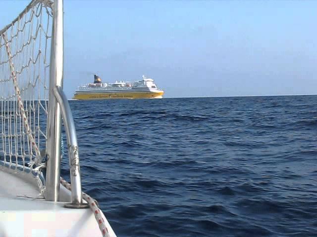 2013-07-12 - 19H00 Traversée aller vers la corse en voilier (Jeanneau FLIRT 6m) Porquerolles-Ajaccio