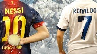 Cristiano Ronaldo vs Messi - Epic Snowball Fight  In Real Life