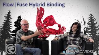 2015 Flow Fuse Hybrid Mens Binding Overview by SnowboardsDOTcom