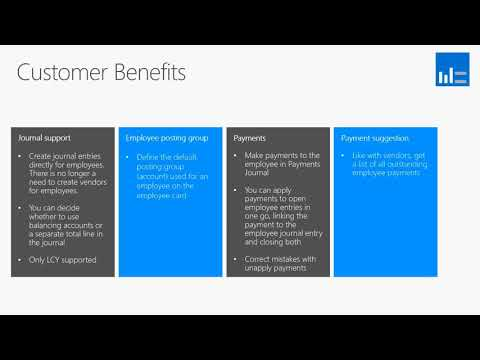What's New In Microsoft Dynamics NAV 2018  - Employee Ledger  Entries