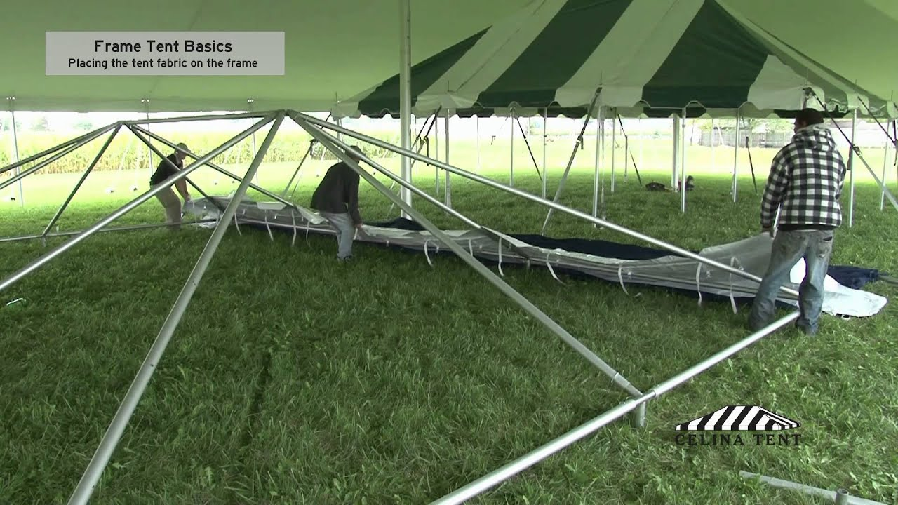 Frame Tent Basics - How to Place Tent Fabric on a Frame Tent & Frame Tent Basics - How to Place Tent Fabric on a Frame Tent - YouTube