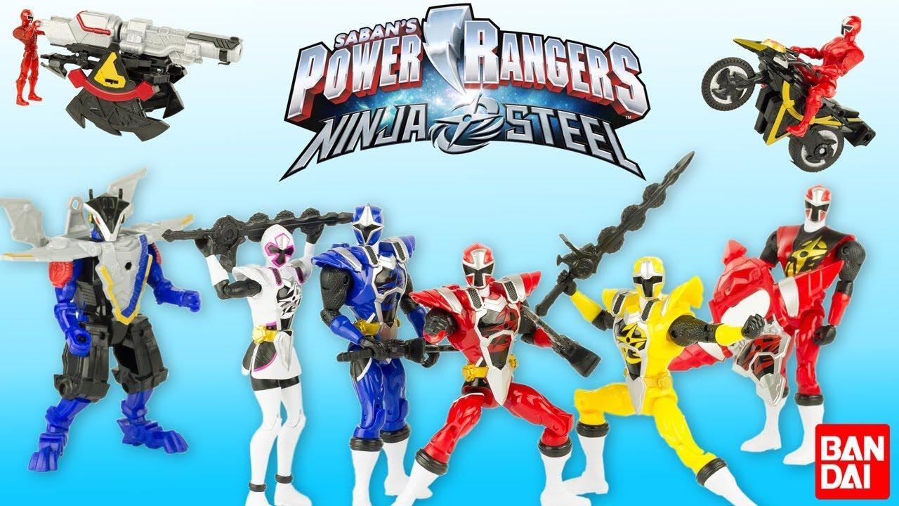 Power Rangers Ninja Steel Figurines Armure Moto Station Combat Dx Jouet Toy Review Bandai Noel Youtube