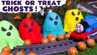 Thomas The Tank Engine Halloween Trick or Treat Spooky Ghosts with Witch and Wizard Funling TT4U