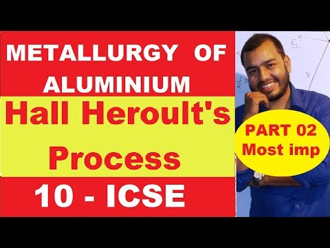 Metallurgy Of ALuminium | 10 ICSE Metallurgy | Hall Heroult Process | Most Important in Metallurgy|