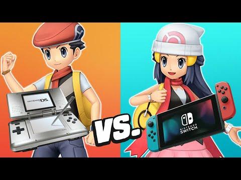 Pokemon Brilliant Diamond U0026 Shining Pearl Trailer Comparison - Switch Vs DS