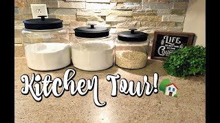 KITCHEN TOUR!🏠 | SMALL KITCHEN ORGANIZATION | KITCHEN STORAGE