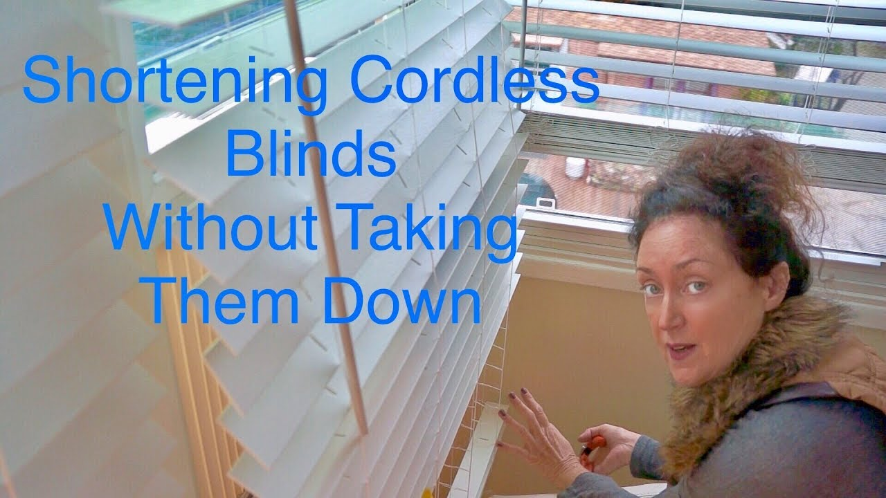How To Close Blinds >> Blind shortening creating a custom length - YouTube